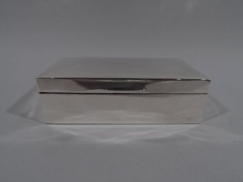 Smart English Modern Sterling Silver Box 1925