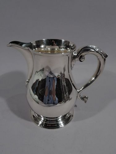 Antique Tiffany Georgian Sterling Silver Water Pitcher C 1913