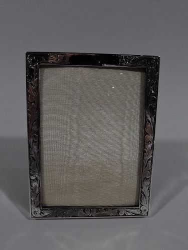 Pretty American Art Nouveau Sterling Silver Picture Frame