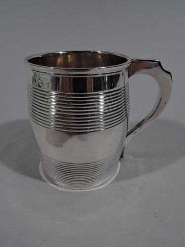 Antique English Georgian Sterling Silver Barrel Baby Cup 1809