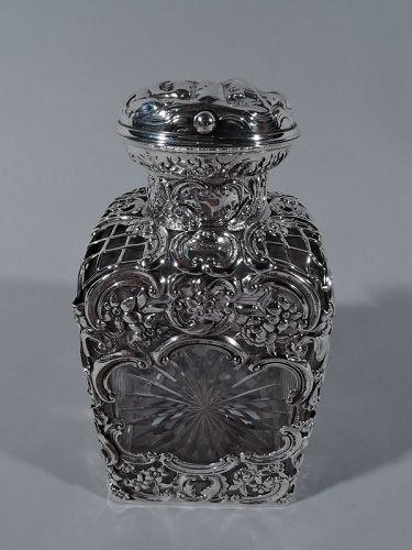 Antique English Sterling Silver and Cut-Glass Perfume by Comyns 1903