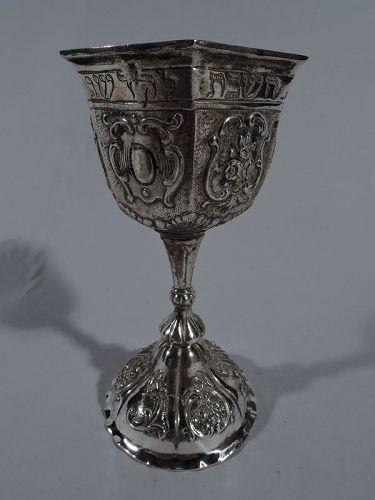 Antique German Silver Kiddush Cup