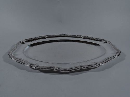 Antique French Classical Silver Tray by Puiforcat for Cartier
