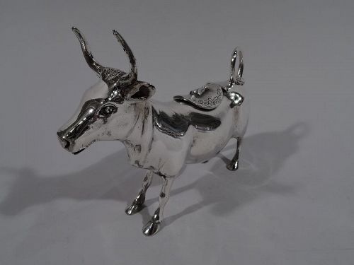 Traditional Sterling Silver Cow Creamer