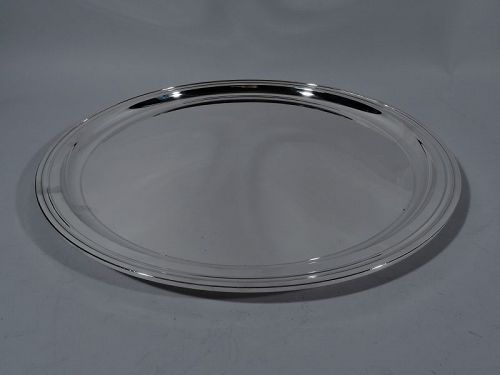 Tiffany Large Modern Sterling Silver Party Platter Serving Tray