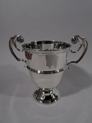 Antique Irish Victorian Sterling Silver Classical Urn Trophy Cup 1897