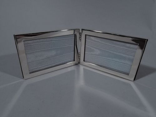 Tiffany Sterling Silver Double Picture Frame in Rare Landscape Format