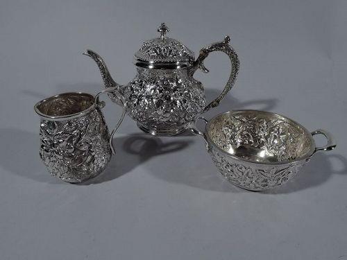 Jacobi & Jenkins Baltimore Repousse 3-Piece Bachelor Tea Set