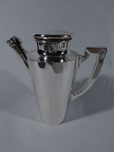 American Art Deco Sterling Silver Cocktail Shaker by Meriden Britannia