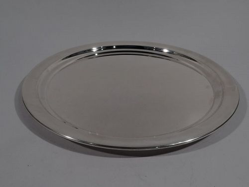 Large Reed & Barton Sterling Silver Round Party Platter Tray