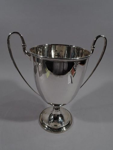 Antique English Edwardian Sterling Silver Classical Trophy Cup 1901