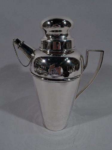 Antique American Art Deco Sterling Silver Cocktail Shaker