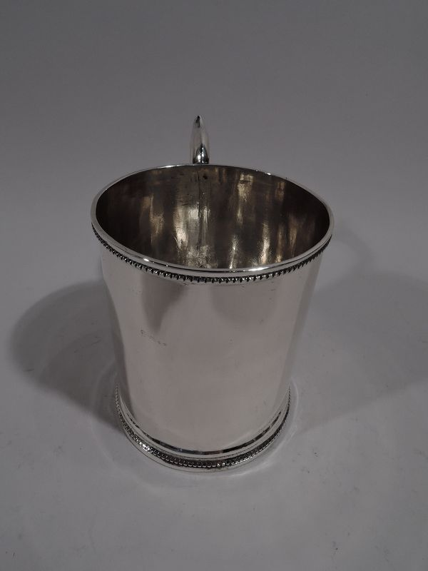 American Classical Coin Silver Baby Cup by Illinois State Society