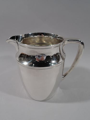 Tiffany American Modern Sterling Silver Water Pitcher