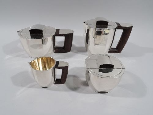 Super Stylish French Art Deco Coffee & Tea Set by Jean Puiforcat