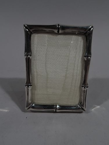 Tiffany Midcentury Modern Sterling Silver Novelty Bamboo Picture Frame