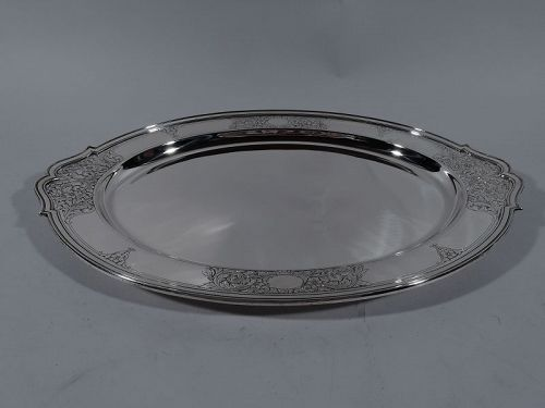 Antique Gorham Edwardian Sterling Serving Platter 1918