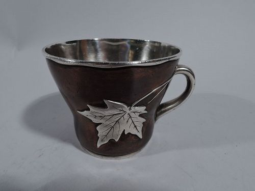 Tiffany Aesthetic Japonesque Mixed Metal Christening Mug C 1879