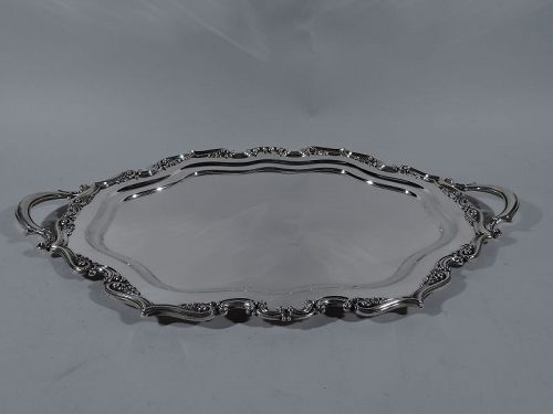Fancy Antique Gorham Edwardian Sterling Silver Serving Tray 1907
