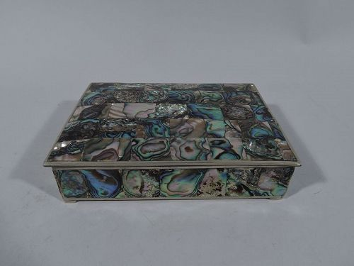 Pretty Trinket Box with Abalone Shell Mosaic