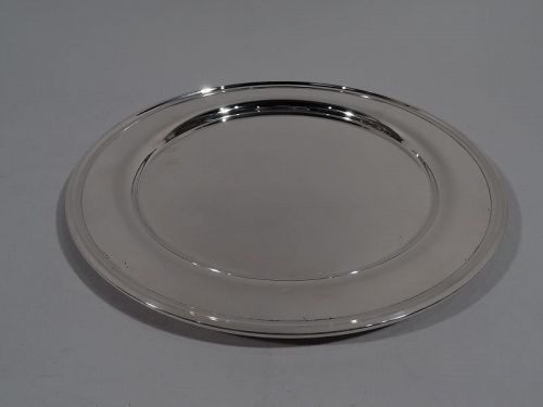 American Modern Sterling Silver Serving Plate