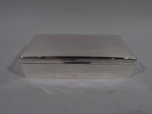 English Edwardian Modern Sterling Silver Box 1904
