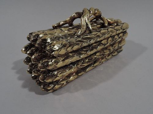 Tiffany Silver Gilt Novelty Figural Asparagus Box