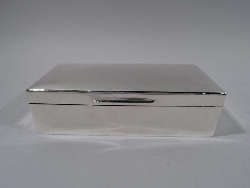 English Modern Sterling Silver Desk Box 1924