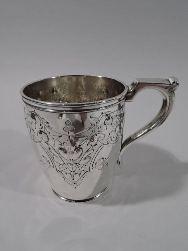 Pretty Coin Silver Baby Cup by Krider & Biddle of Philadelphia
