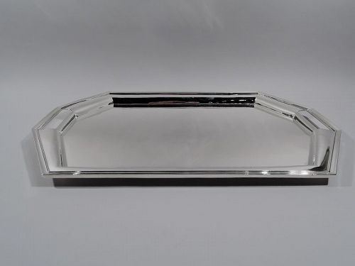 Antique American Art Deco Sterling Silver Tea Tray