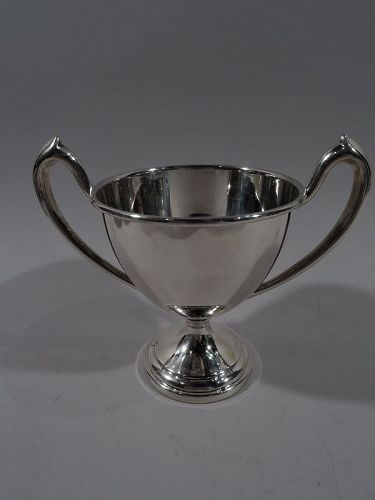 Sweet & Small American Edwardian Sterling Silver Trophy Cup