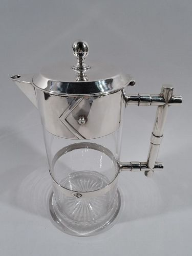 English Victorian Modern Sterling Silver Decanter 1884