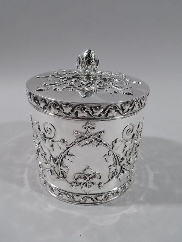 Tiffany Aesthetic Revival Sterling Silver Tea Caddy