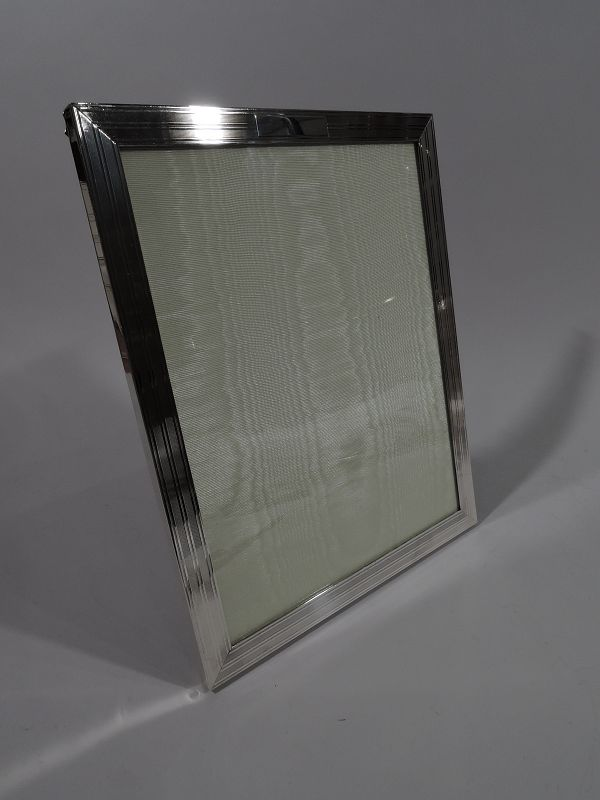 American Modern Hand-Made Sterling Silver Picture Frame