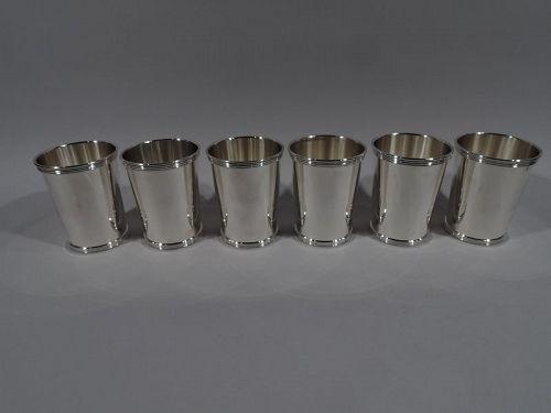 Set of 6 International Sterling Silver Mint Julep Cups