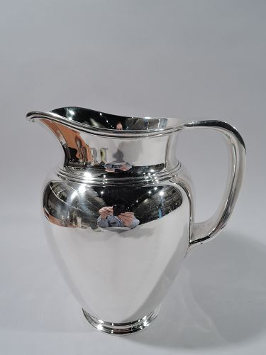 Tiffany Spare & Heavy Modern Sterling Silver Water Pitcher