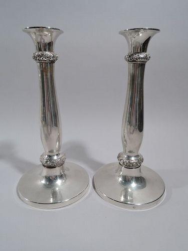 Pair of Austrian Biedermeier Silver Candlesticks 1829