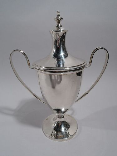 Antique English Sterling Silver Covered Urn Trophy Cup