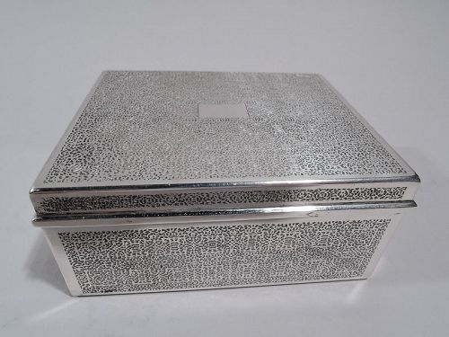 Tiffany Small and Modern Sterling Silver Box C 1945