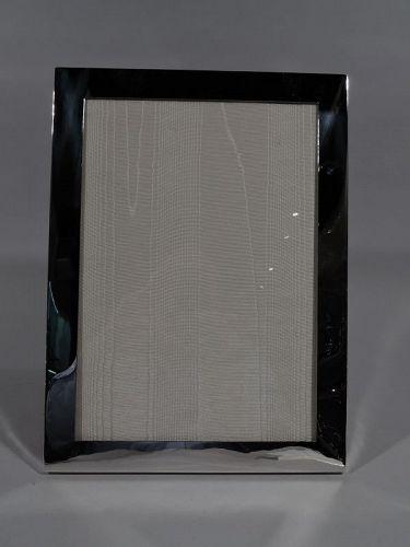 Modern Sterling Silver Frame for Portrait or Landscape Picture