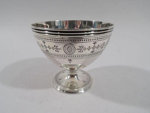 Tiffany Neoclassical Sterling Silver Sugar Bowl
