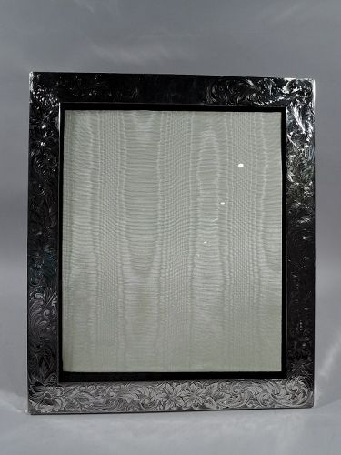 Very Large American Art Nouveau Sterling Silver Picture Frame