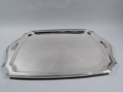 Large and Heavy Tiffany Art Deco Sterling Silver Hampton Tea Tray