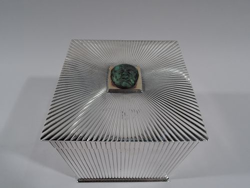 Striking and Modern Sterling Silver Box by Gucci