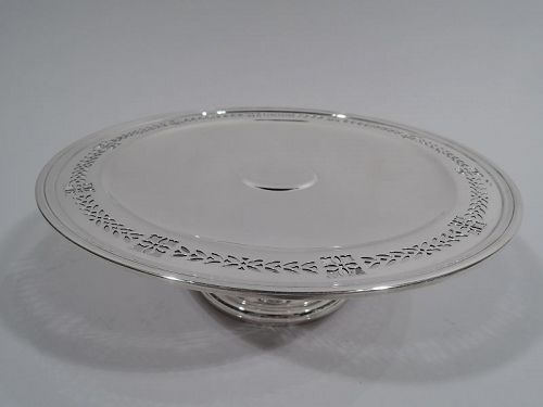 Tiffany American Art Deco Sterling Silver Compote