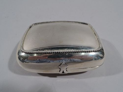 Antique American Sterling Silver Soap Box