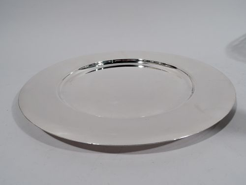 Cartier Midcentury Modern Sterling Silver Serving Plate