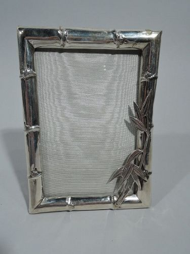Antique Chinese Silver Bamboo Picture Frame