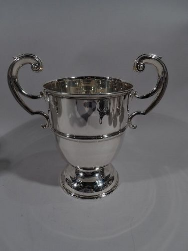 Irish Edwardian Georgian Classical Sterling Silver Urn Trophy Cup 1906