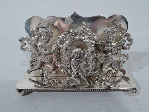 Antique Rococo Sterling Silver Letter Rack by Shiebler for Tiffany